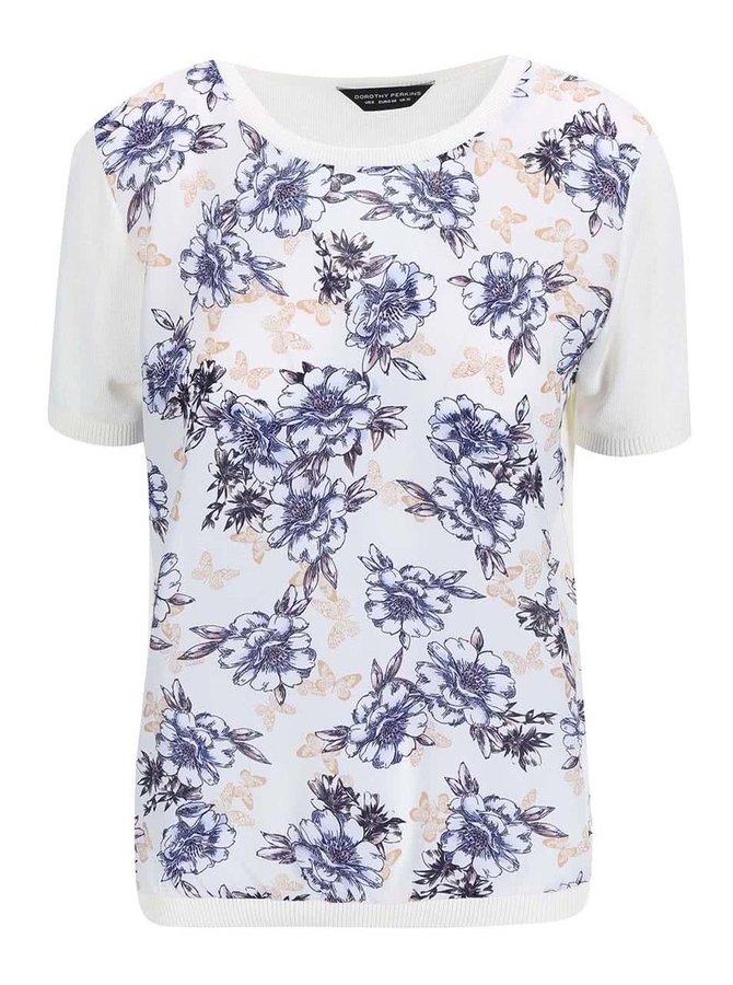 Bluză cu model floral Dorothy Perkins - crem