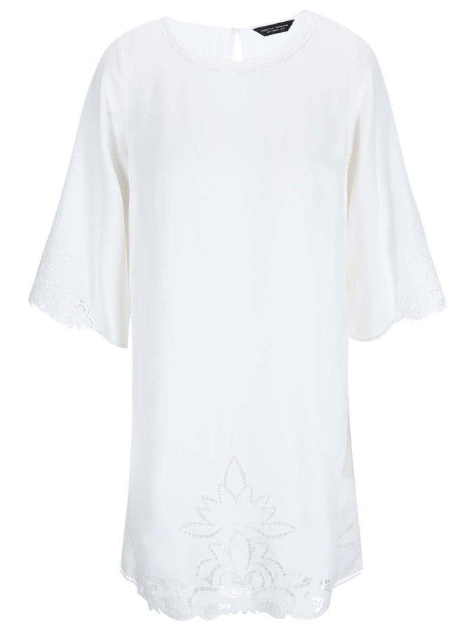 Krémové šaty s výšivkou Dorothy Perkins