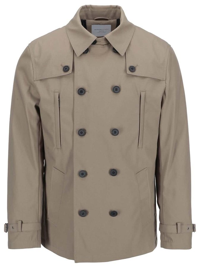 Jachetă Bowery maro deschis de la Selected