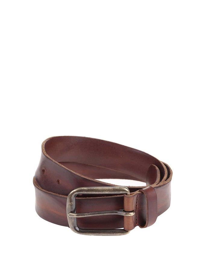 Hnědý kožený pásek Jack & Jones Brice