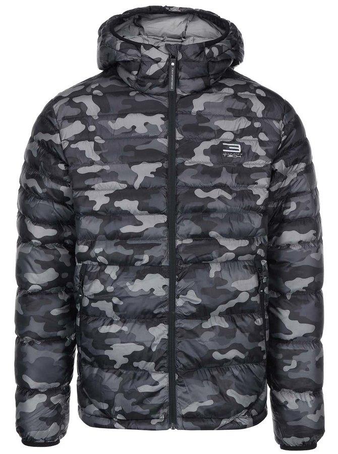 Jachetă matlasată cu glugă Jack & Jones Tech Bonus - camuflaj