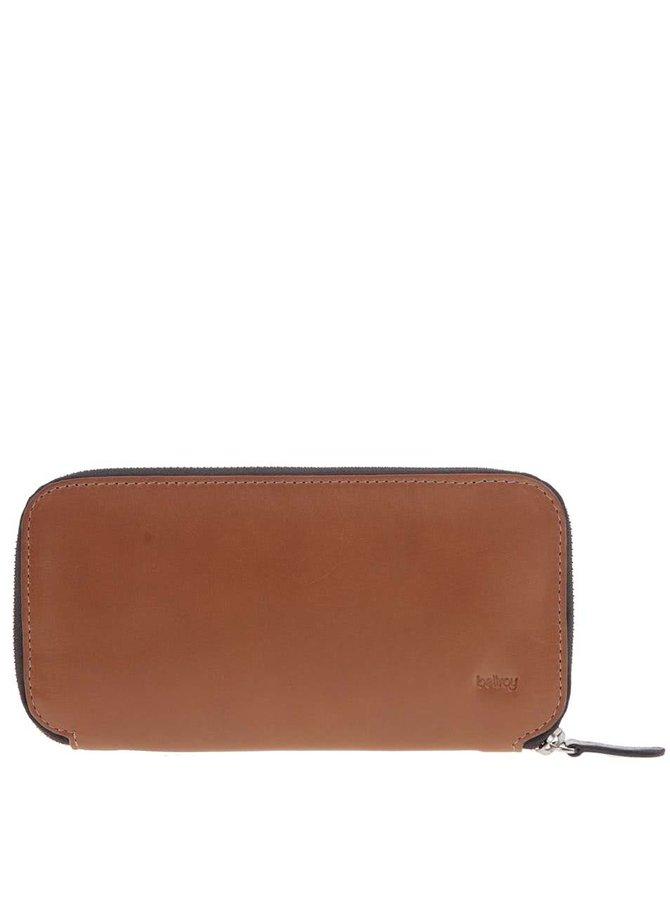 Hnedá unisex kožená peňaženka 2v1 Bellroy Carry Out