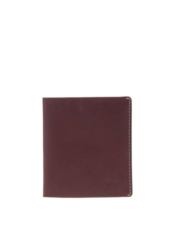 Portofel din piele Bellroy Note Sleeve - maro-vișiniu