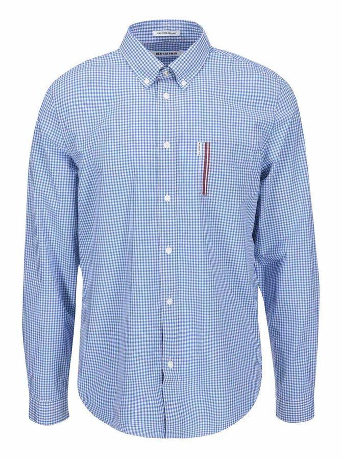 Světle modrá kostkovaná košile Ben Sherman