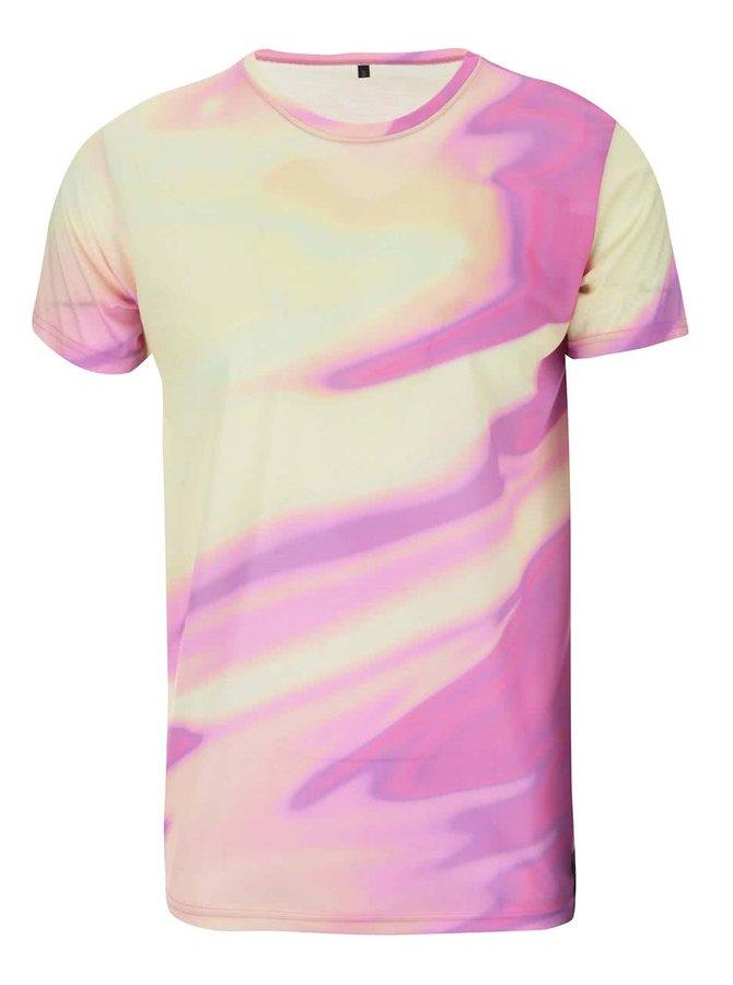 Ružovo-žlté unisex tričko Grape