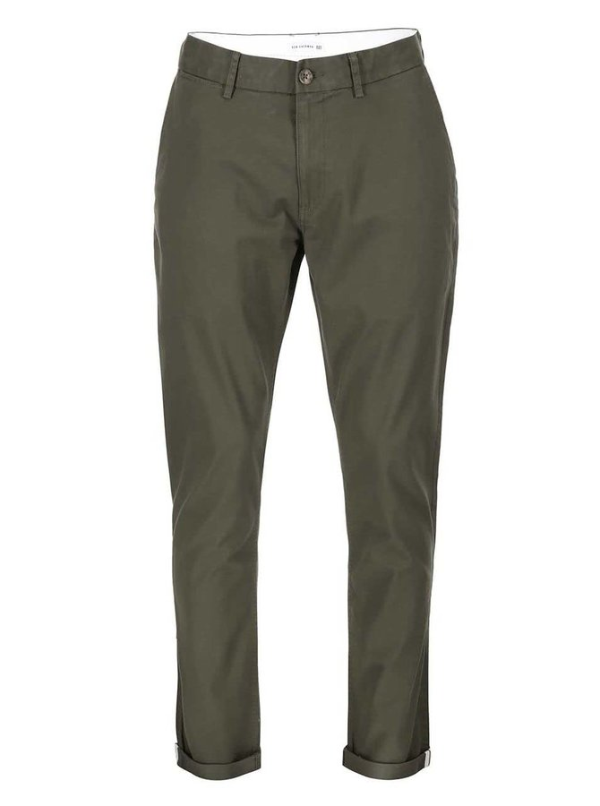 Tmavě zelené kalhoty Ben Sherman