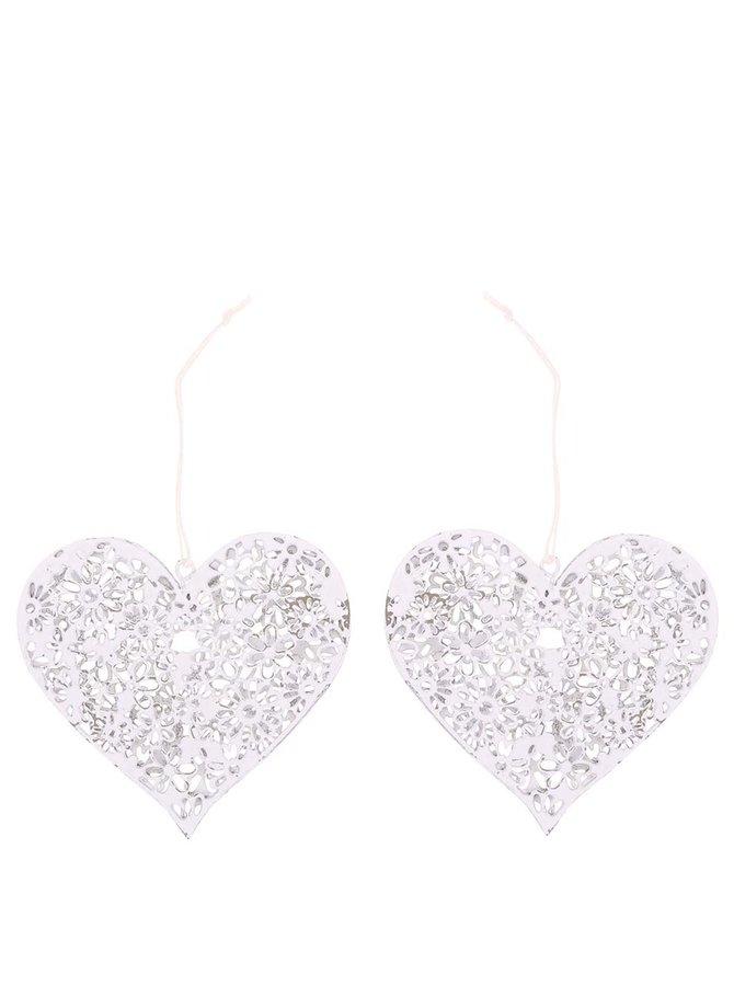 Set de două inimioare albe de la Sass & Belle