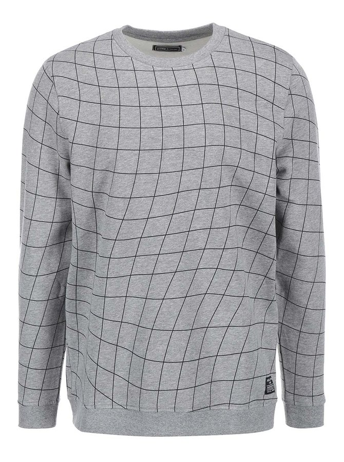 Bluzon cu model geometric Jack & Jones Move - gri