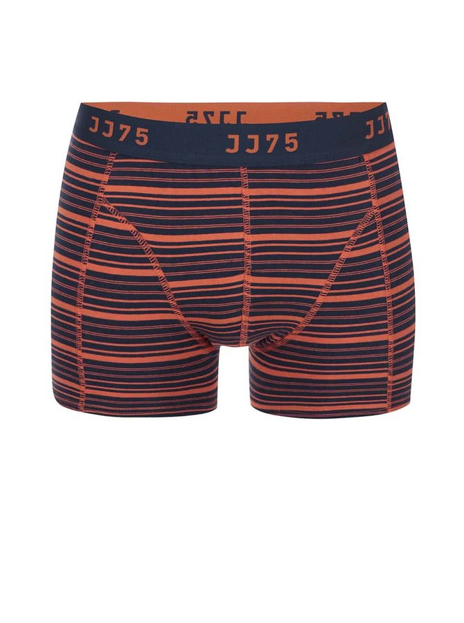 Boxeri cu dungi portocalii-albastre JACK & JONES Stripe