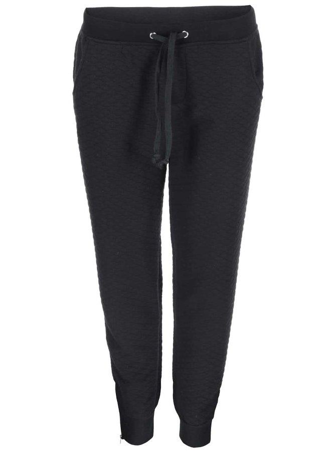Pantaloni de trening pentru femei, cu textură matlasată, de la Brave Soul - negru