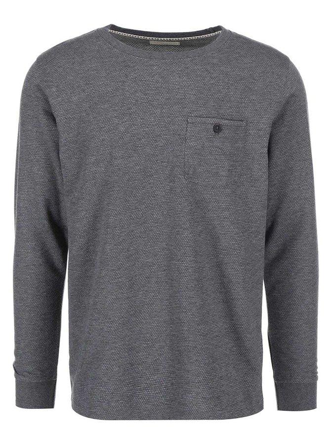 Šedé pánské triko s náprsní kapsou Selected Dot