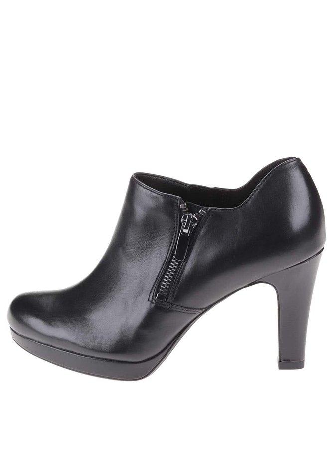 Pantofii din piele cu toc înalt Clarks Amos Kendra - negru