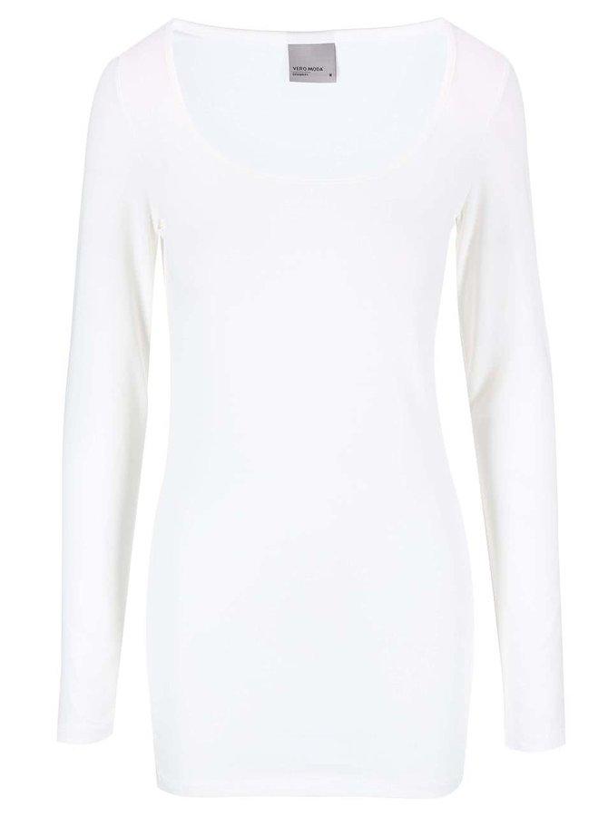 Biele tričko s dlhým rukávom Vero Moda Maxi My