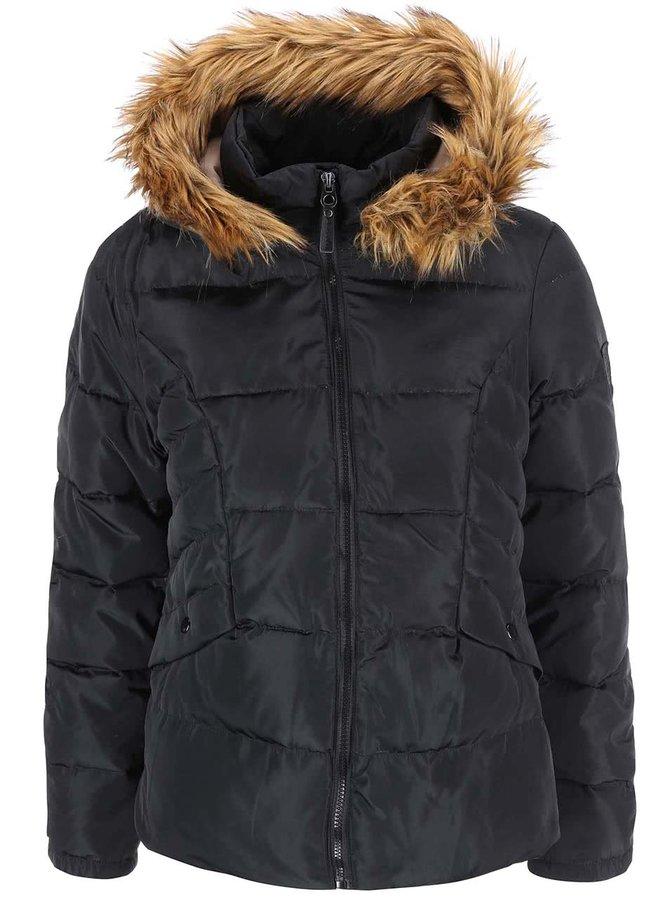 Čierna bunda s kapucňou VERO MODA Kelly