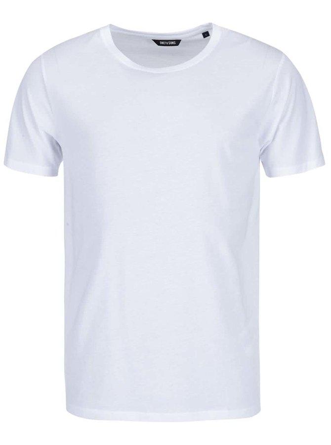 Bílé triko ONLY & SONS Pima