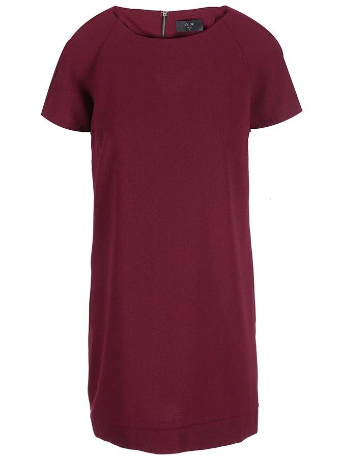 Vínové šaty volného střihu AX Paris