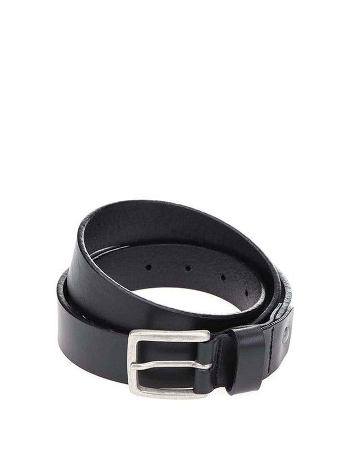 Černý kožený hladký pásek Selected Homme Antonio