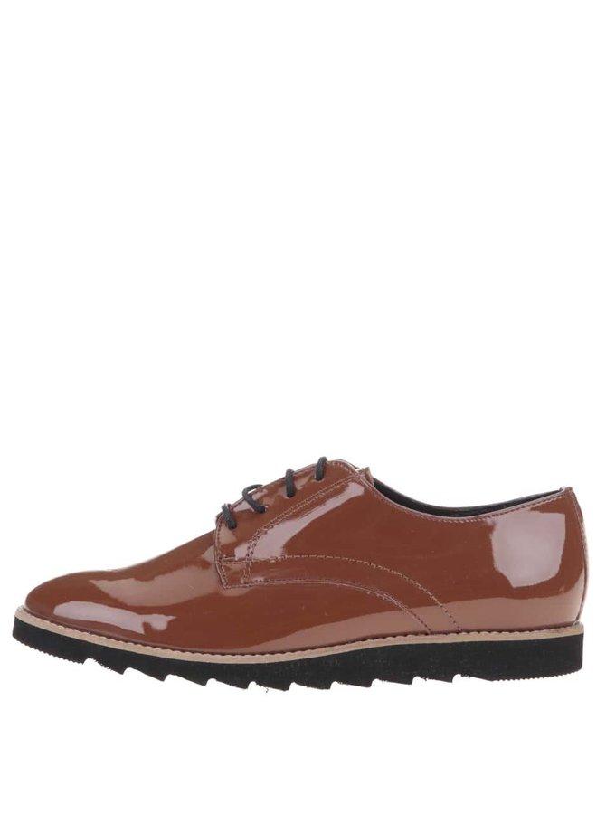 Pantofi maro lucioși OJJU