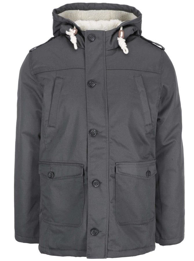 Jachetă căptușită gri închis de la !Solid Rhymer