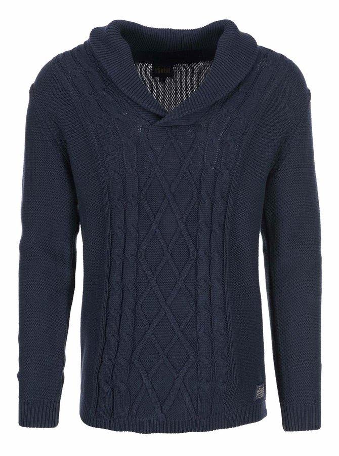 Tmavě modrý svetr s límcem !Solid Stanislav
