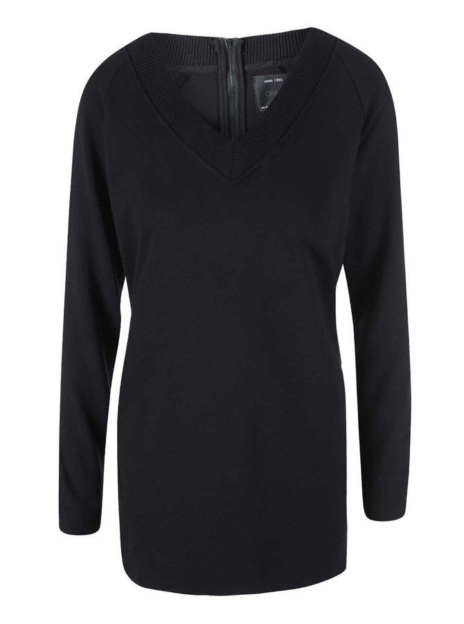 Čierny dlhý sveter ONLY Beryl