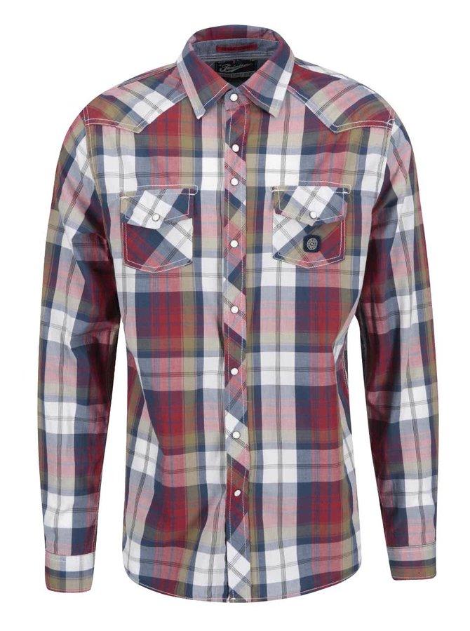 Farebná károvaná regular fit košeľa Twinlife