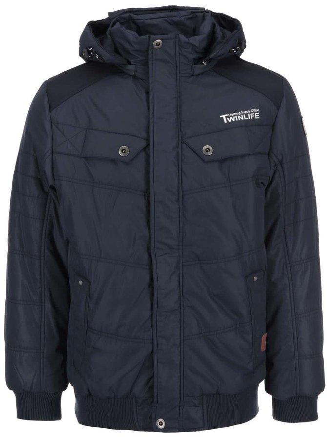 Jachetă bărbătească bleumarin cu glugă detașabilă Twinlife