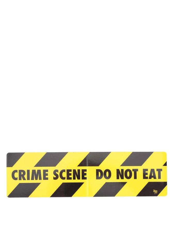 Čierny magnet na chladničku Donkey Snack Attack, Crime Scene