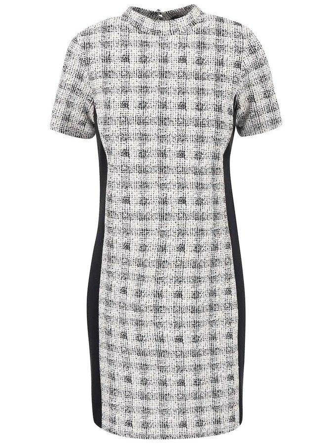 Čierno-krémové vzorované šaty Dorothy Perkins