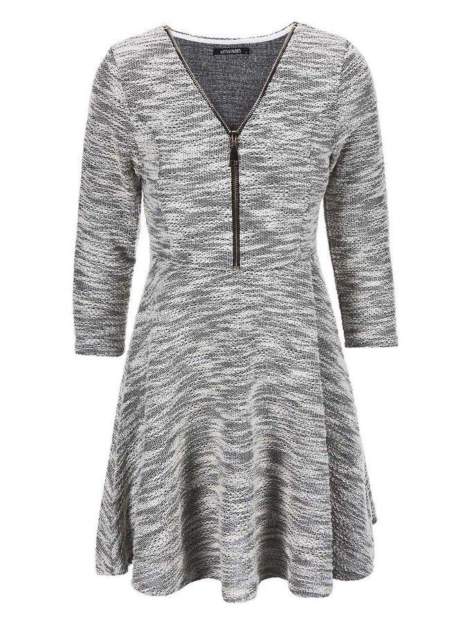 Černošedé šaty na zip Haily´s Hazzy