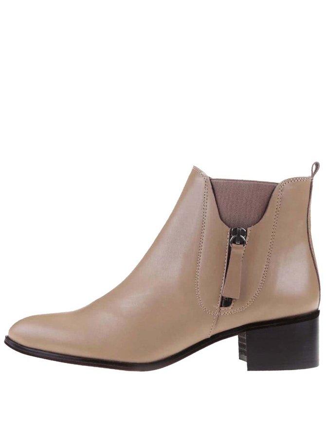 Béžové dámske členkové topánky OJJU