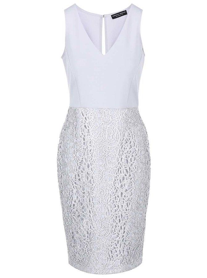 Sivé šaty s flitrami Dorothy Perkins