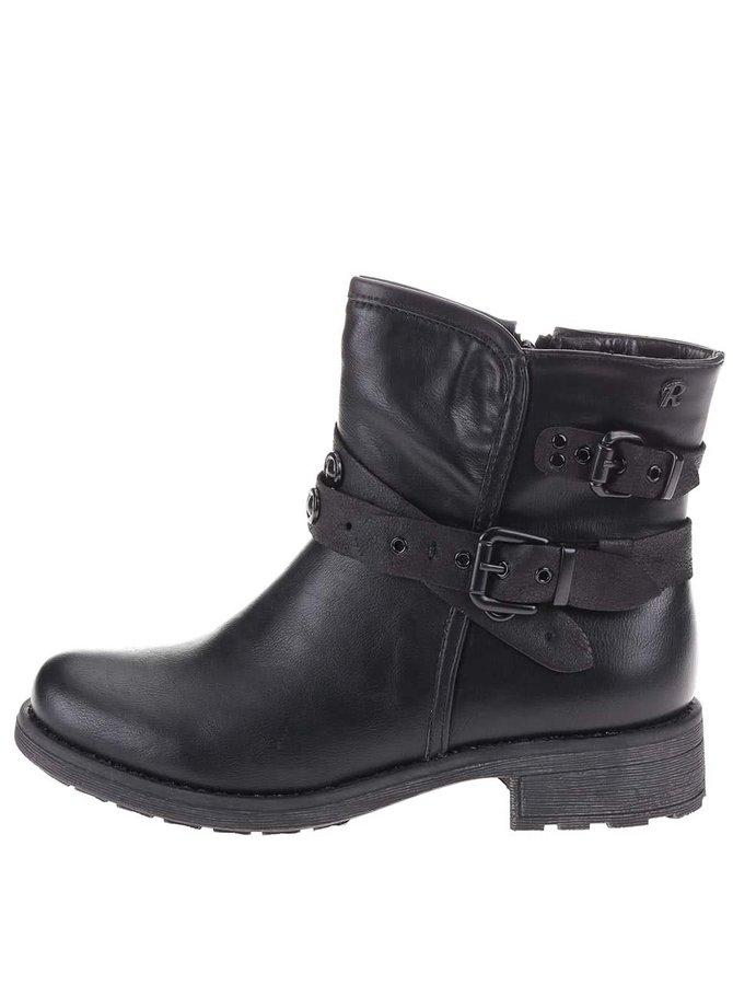 Čierne vyššie členkové topánky s prackami Refresh