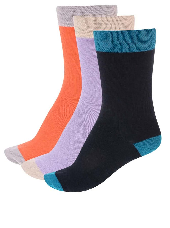 Barevné ponožky v sadě tří párů OJJU