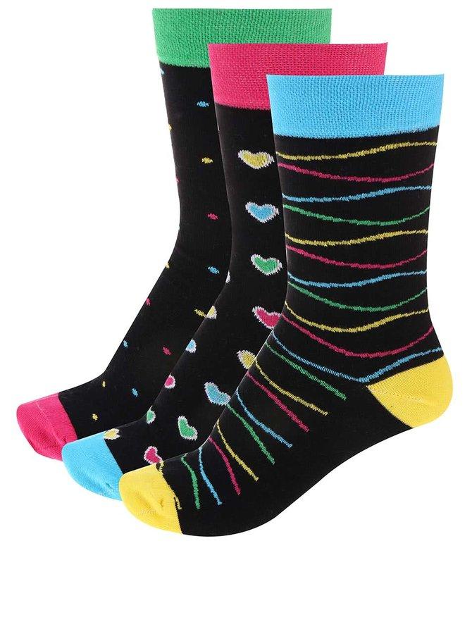 Set de 3 perechi de șosete colorate cu model de la OJJU
