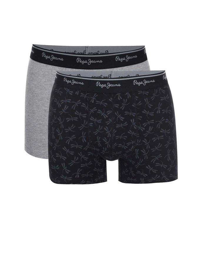 Set de două perechi de boxeri gri și negru Pepe Jeans Barking