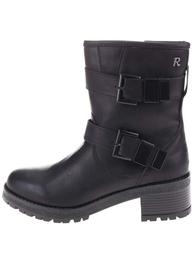 Čierne vyššie topánky s prackami Refresh