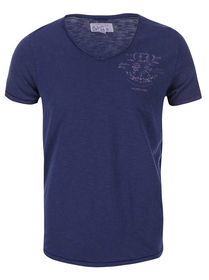 Tmavomodré tričko s krátkym rukávom Dstrezzed