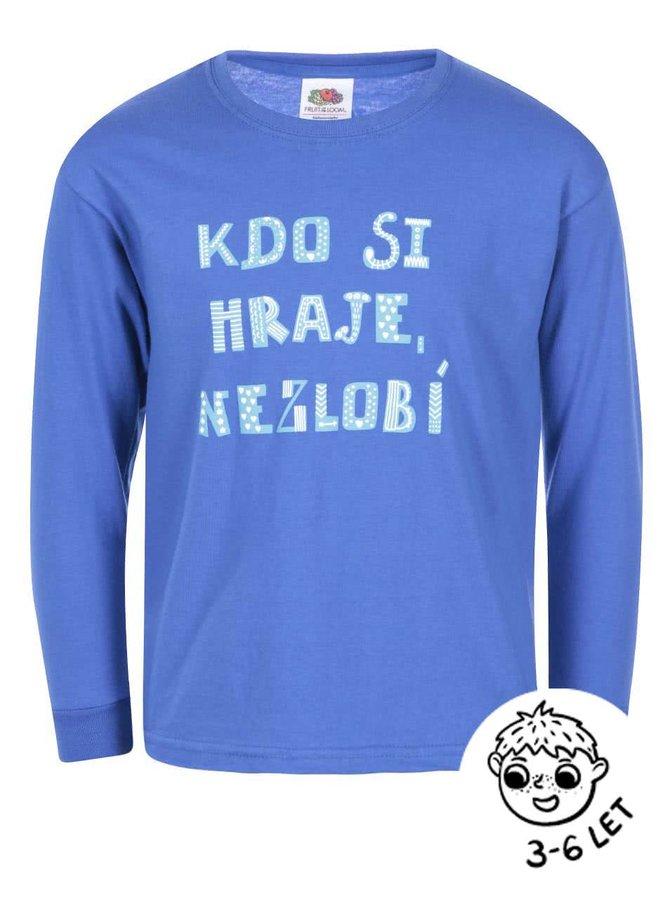 Modré klučičí triko ZOOT Kids Kdo si hraje nezlobí