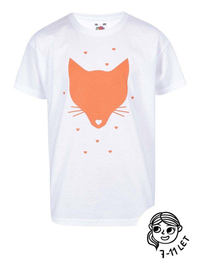 Biele dievčenské tričko ZOOT Kids Liška