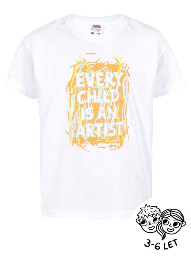 Bílé dětské triko ZOOT Kids Every Child Is An Artist