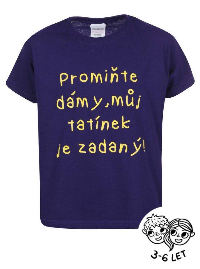 Fialové detské tričko ZOOT Kids Promiňte