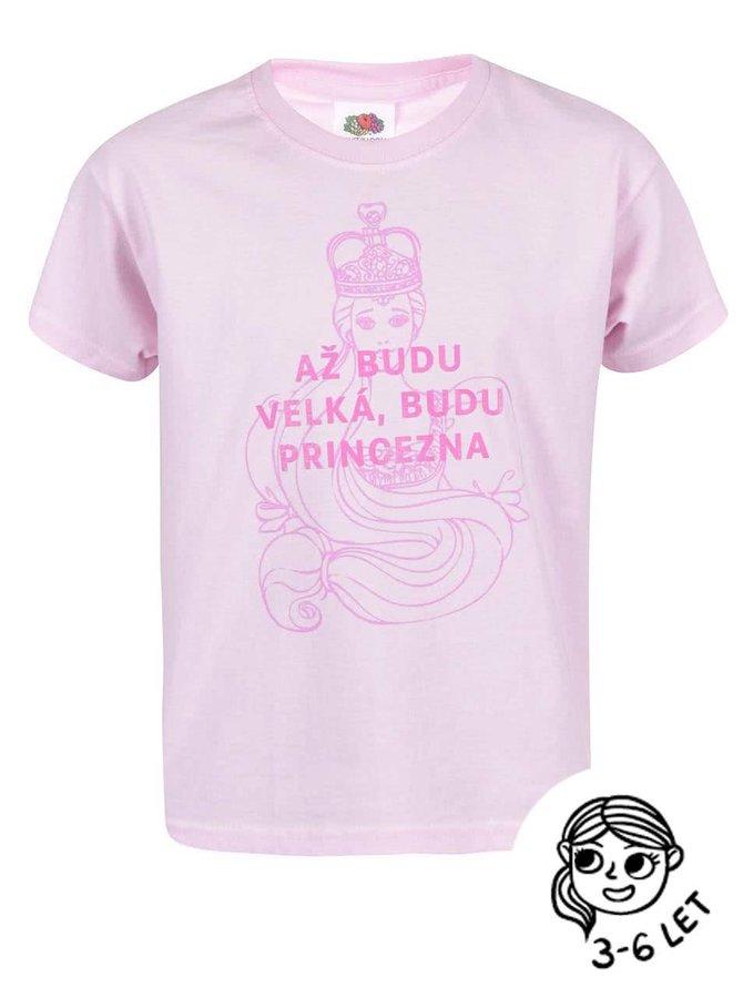 Růžové holčičí triko ZOOT Kids Princezna