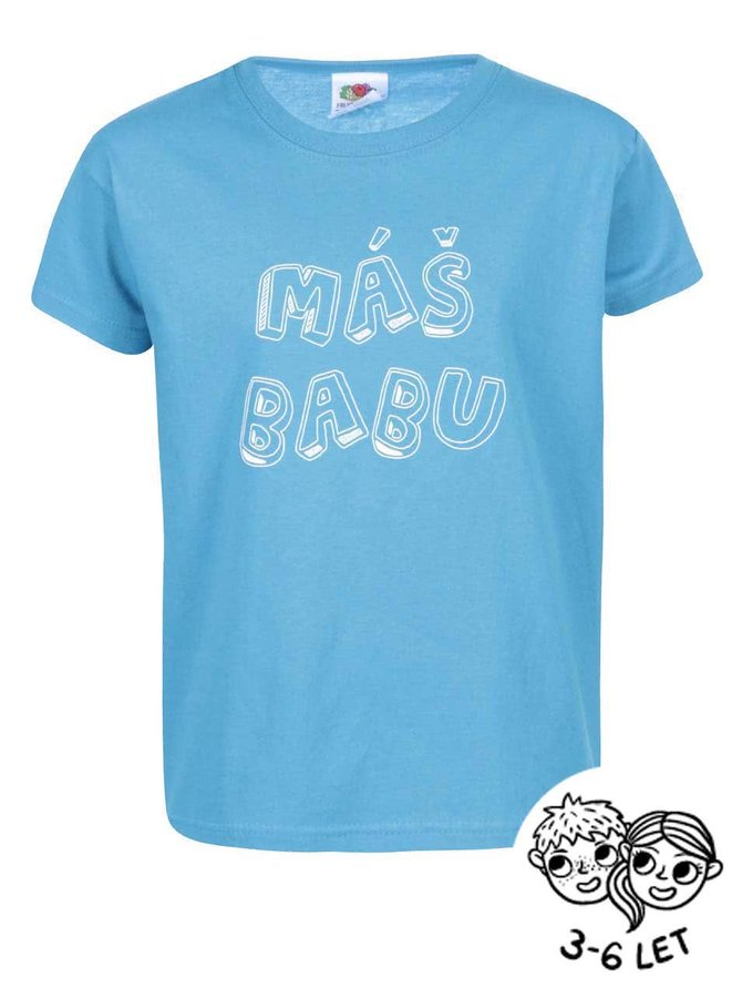 Modré detské tričko ZOOT Kids Máš Babu