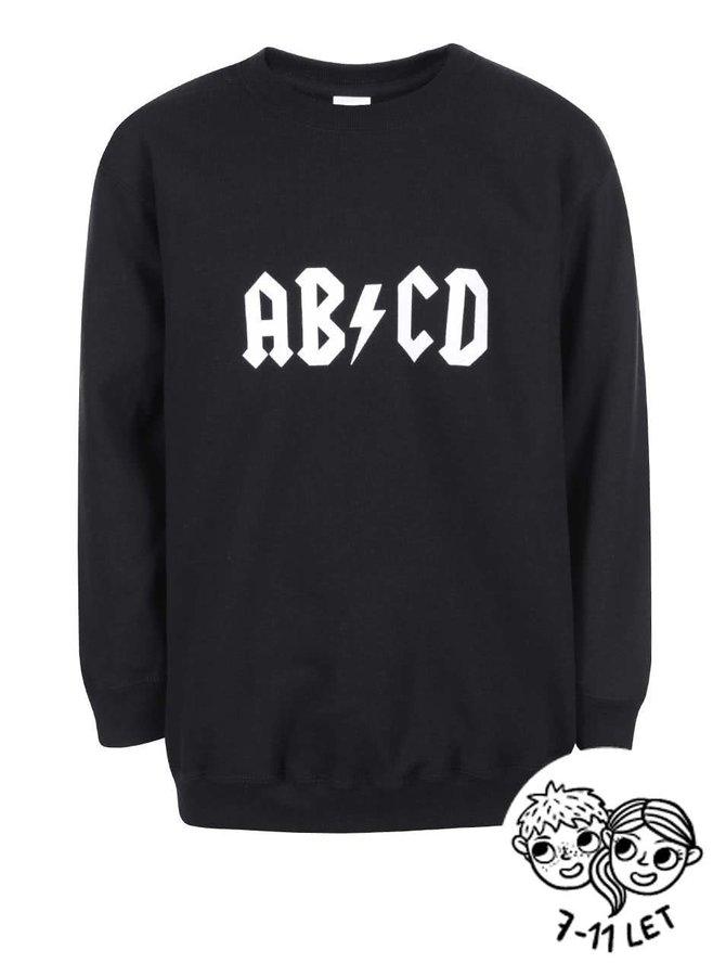 Čierna detská mikina ZOOT Kids ABCD