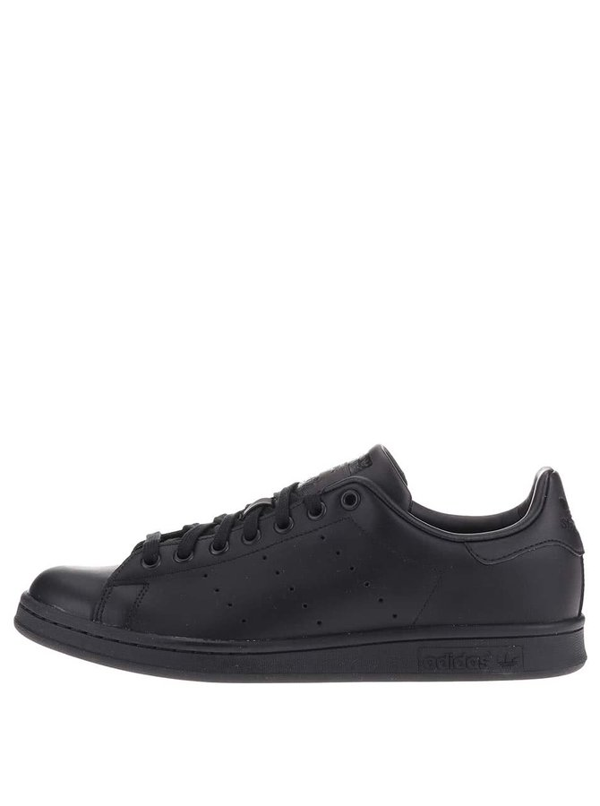 Pantofi sport negri din piele pentru bărbați adidas Originals Stan Smith