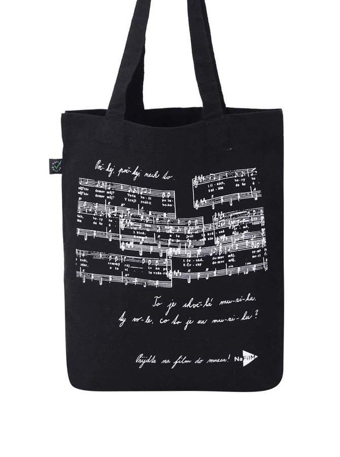"""""""Dobrá"""" čierna plátená taška pre NaFilM Hymna"""