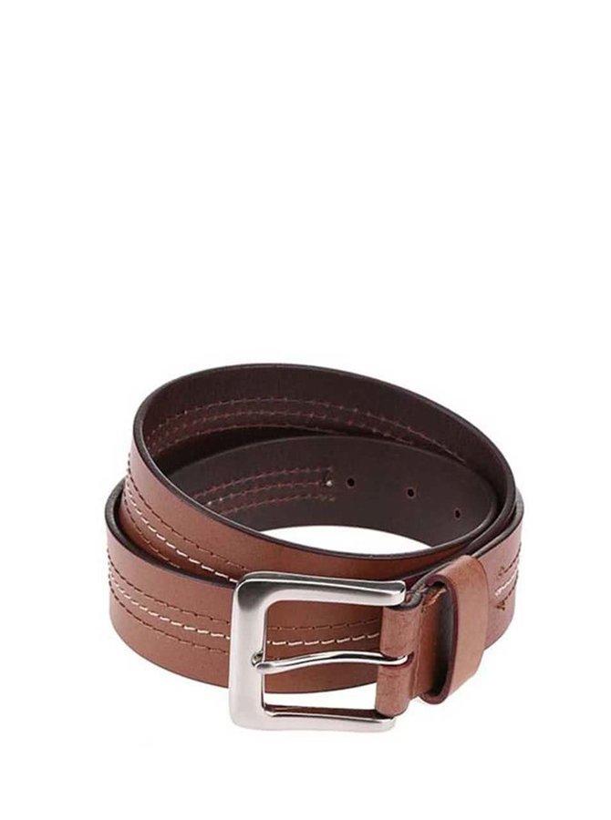Hnědý pánský kožený pásek Dice Parma