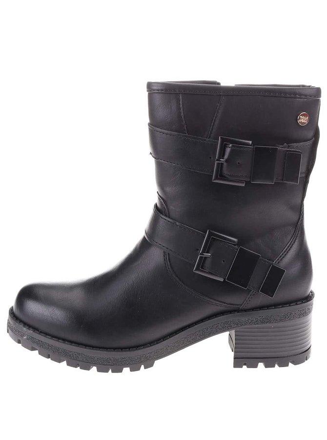Čierne vyššie topánky s prackami Xti