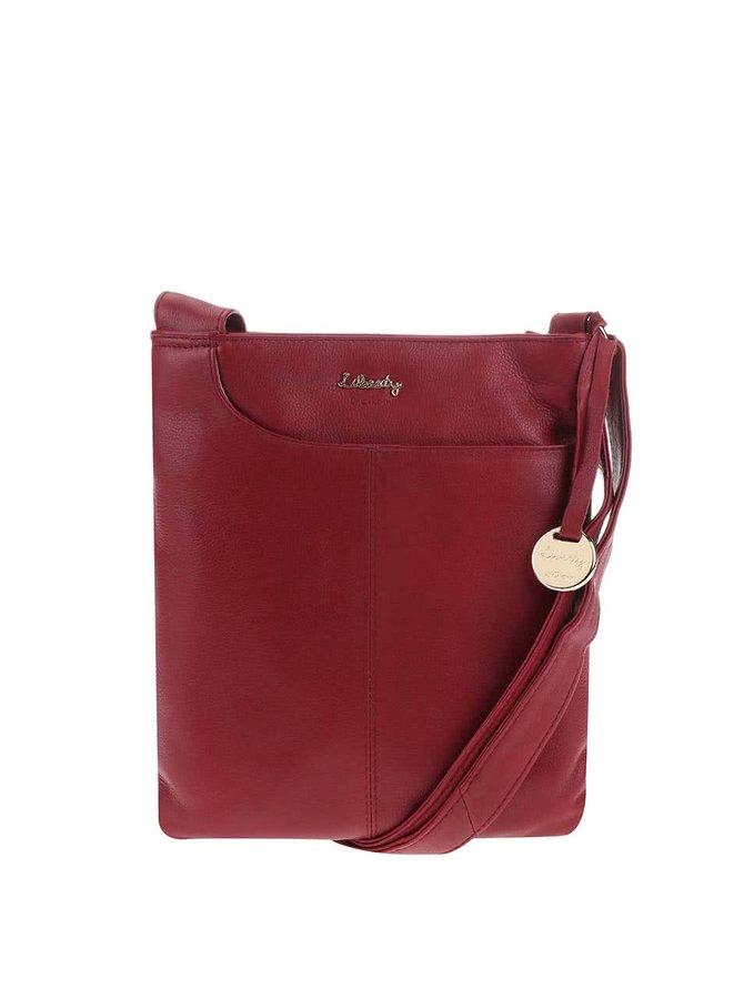 Červená kožená kabelka cez rameno Liberty by Gionni Shaula
